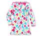 Sukienka z tkaniny frotté, w kwiaty