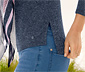 Kırçıllı Mavi Ince Örgü Tişört