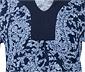 Baskılı Uzun Bluz, Mavi