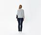 Pul Detaylı Sweatshirt-Gri