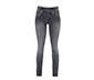 Pul Detaylı Siyah Kot Pantolon