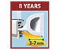 tesamoll D-Profil  Kapı Pencere İzolasyon Bandı , 6m:9mm:7mm, beyaz