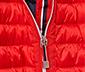 Prošívaná bunda, červená