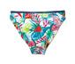 Mavi Denim Desenli Çift Taraflı Bikini