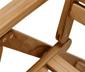 Chaise à dossier haut en teck, réglable sur 6 positions