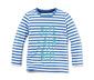 Mavi Beyaz  2 Adet Organik Pamuklu Uzun Kollu Tişört