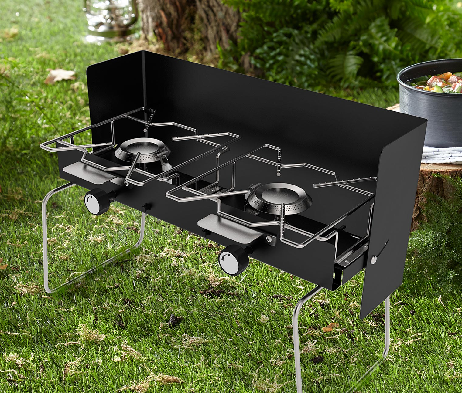 Highlander Camping-Toaster aus Edelstahl klappbar CP116