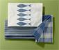3 konyharuha szettben, kék