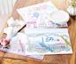 Podkładki pod talerze do kolorowania »Francja«, z kredkami