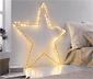 Grande étoile métallique à LED