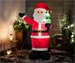 Św. Mikołaj LED w rozmiarze XXL