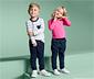Dziecięce spodnie dresowe stylizowane na dżinsowe