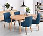 Rozkládací jídelní stůl, cca 160–210 x 90 cm