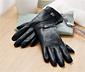 Kožené rukavice s ozdobným prvkem