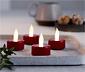 4 bougies chauffe-plat à LED
