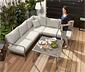 Záhradná lounge súprava na stolovanie, roh
