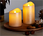 2 bougies à LED en cire véritable