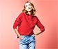 Női pulóver, piros