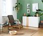Chaise à bascule avec coussins rembourrés