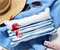 Beyaz Mavi Kırmızı Şişirilebilir Yastık Çanta