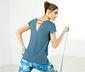 Kırçıllı Mavi DryActive Plus Spor Tişört