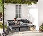 Ogrodowa sofa rozsuwana, polirattan