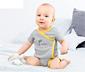 3 gyerek rövid ujjú body szettben, sárga