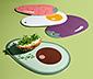 4 design vágódeszka szettben, mintás