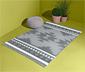 Szary, dwustronny dywan zewnętrzny