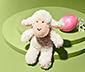 Pluszowa zabawka owieczka, z efektem dźwiękowym