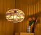 Plafonnier à LED en bois tressé