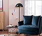 Stojacia lampa s LED a stolíkom