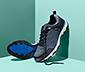 Męskie buty sportowe ze skóry welurowej