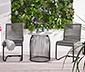 Beton Görünümlü Yuvarlak Bahçe Masası, 60 x 60 cm