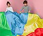 Kerek játékponyva, színes
