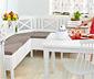 Kuchenna ławka narożna z poduszką i schowkiem pod siedziskami