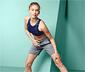 Női sport rövidnadrág, szürke