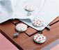 4 asztalterítő-leszorító szettben, gyümölcsmintás