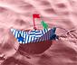 Wodoodporna łódź papierowa do złożenia z napędem nakręcanym
