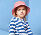 Dziecięcy kapelusz przeciwsłoneczny w paski