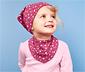 Dwustronny komplet czapka i szalik dla dzieci