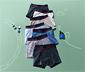 Bokserki chłopięce z elastycznym wykończeniem w pasie, 7 par