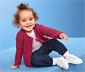 Sweter niemowlęcy zapinany na guziki, malinowy