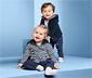 Kisgyerek kifordítható plüssfelső, csíkos