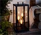 Outdoorový lampáš s LED s vláknom