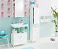 Fürdőszobai tükrös polc, fehér