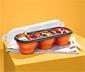 Összehajtható ételhordó doboz, 3 rekeszes