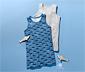 2 fiú trikó szettben, cápa, kék/szürke