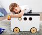Pinolino-Spielzeugkiste mit Rollen »Jim«, weiß