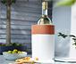 Terrakotta palackhűtő, önhűtő, fehér